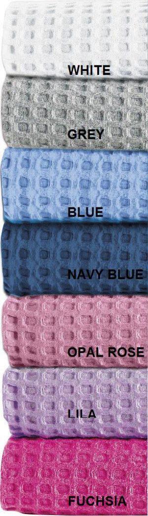 Kουβέρτα waffle Μονή 160x240 blue Adam home